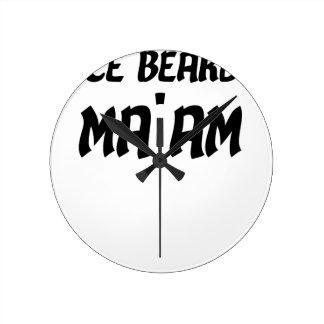 Nice Beard Ma'am Round Clock