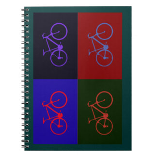 nice bicycle . biking . bike-themed spiral notebook