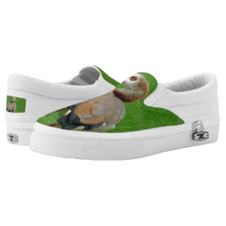 Nice Bird Custom Zipz Slip On Shoes,  Men & Women Printed Shoes