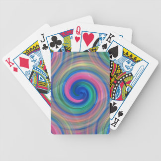 Nice candy swirl pattern with pink and purple bicycle playing cards