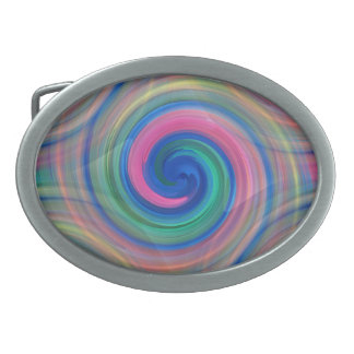 Nice candy swirl pattern with pink and purple oval belt buckle