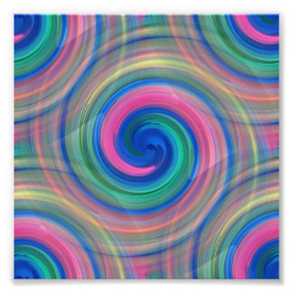 Nice candy swirl pattern with pink and purple photographic print