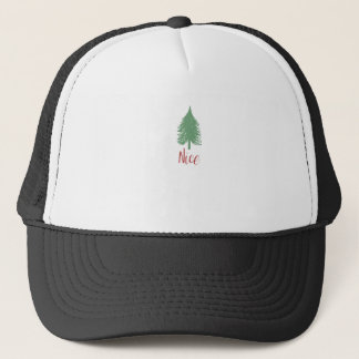 Nice Christmas Shirt - Christmas Tree Trucker Hat