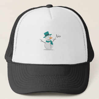 Nice Christmas Shirt - Snowman Trucker Hat