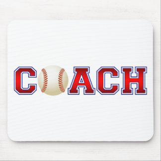 Nice Coach Baseball Insignia Mouse Pads