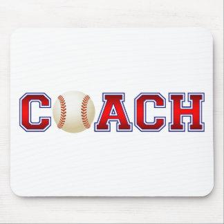 Nice Coach Baseball Insignia Mouse Pad