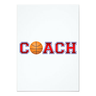 Nice Coach Basketball Insignia 13 Cm X 18 Cm Invitation Card