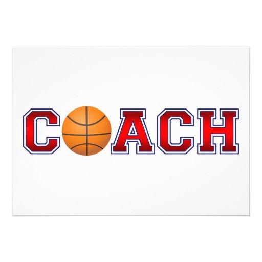 Nice Coach Basketball Insignia Announcements
