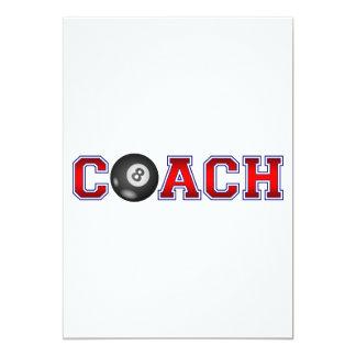 Nice Coach Billiard Insignia 13 Cm X 18 Cm Invitation Card