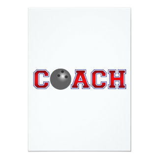 Nice Coach Bowling Insignia 13 Cm X 18 Cm Invitation Card