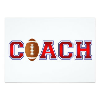 Nice Coach Football Insignia 13 Cm X 18 Cm Invitation Card