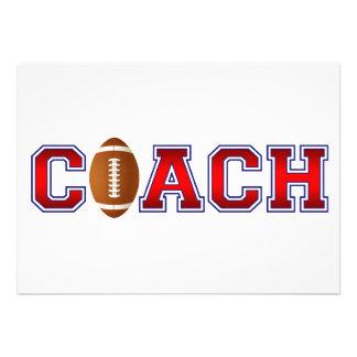 Nice Coach Football Insignia Custom Invite