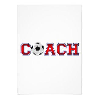 Nice Coach Soccer Insignia Personalized Invitation