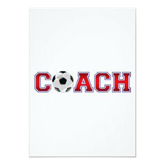 Nice Coach Soccer Insignia 5x7 Paper Invitation Card