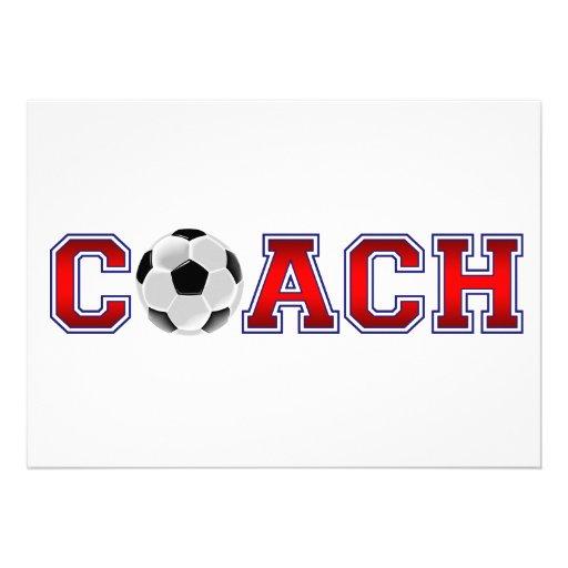 Nice Coach Soccer Insignia Custom Announcement