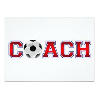 "Nice Coach Soccer Insignia 5"" X 7"" Invitation Card"