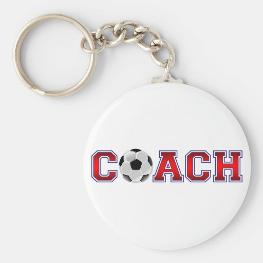 Nice Coach Soccer Insignia Key Chains