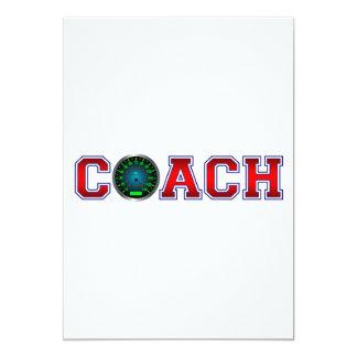 Nice Coach Speed Insignia 13 Cm X 18 Cm Invitation Card