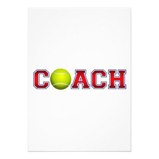 Nice Coach Tennis Insignia Personalized Invite