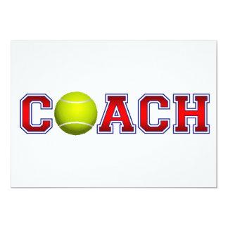 Nice Coach Tennis Insignia 5x7 Paper Invitation Card