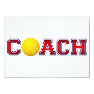 Nice Coach Volleyball Insignia 2 13 Cm X 18 Cm Invitation Card