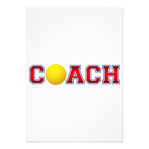 Nice Coach Volleyball Insignia 2 Invitation