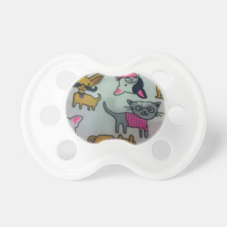 nice colour full cats and dog baby dummy pacifiers