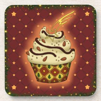 Nice Cupcake with almonds, chocolate Coaster