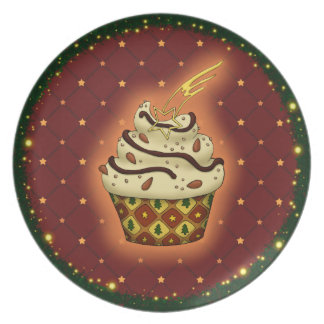 Nice Cupcake with almonds Plate