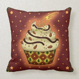 Nice Cupcake with almonds Throw Pillow