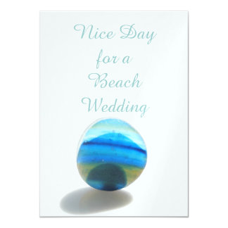 Nice Day for a Beach Wedding Card