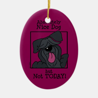 Nice dog - emergency but today ceramic ornament