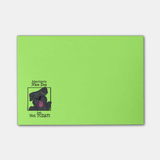 Nice dog - emergency but today post-it notes