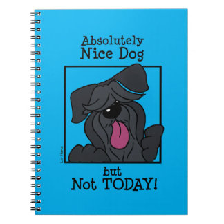 Nice dog - emergency but today spiral notebook