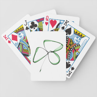 nice drawing small clover bicycle playing cards