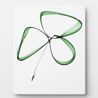nice drawing small clover plaque