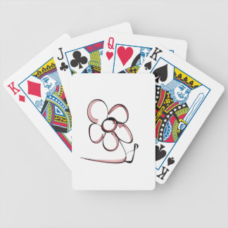 nice drawing small flower bicycle playing cards