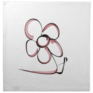 nice drawing small flower napkin