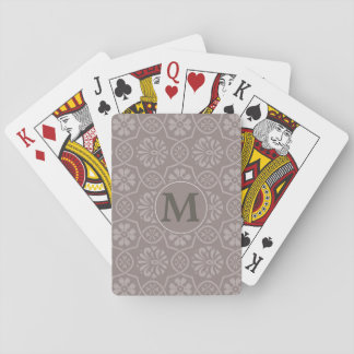 Nice Elegant Playing Cards Game with Your Monogram