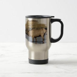 Nice Elk in the stream Coffee Mugs