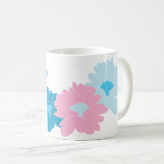 Nice flowers illustration coffee mug