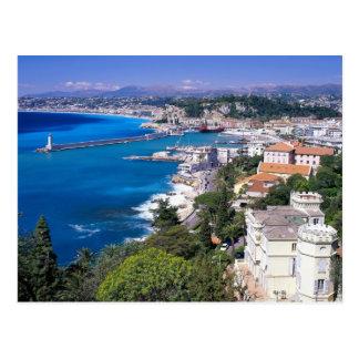 Nice, France Coastline Postcard