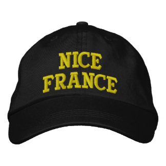 NICE FRANCE EMBROIDERED BASEBALL CAPS