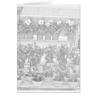 Nice France Farmers Market Coloring Page Card