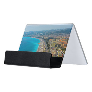 Nice France located in the French Riviera Desk Business Card Holder
