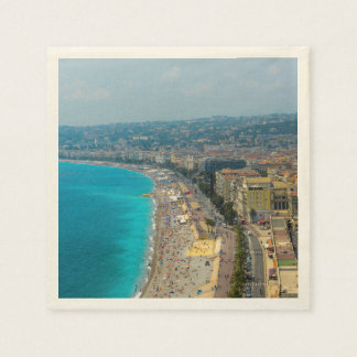 Nice France located in the French Riviera Disposable Serviette