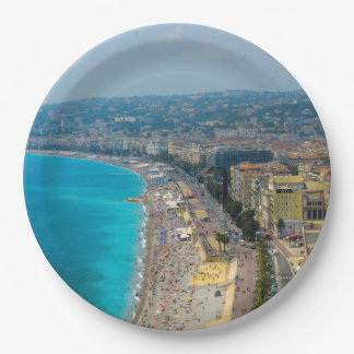 Nice France located in the French Riviera Paper Plate