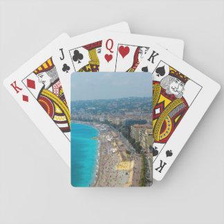 Nice France Photograph Poker Deck