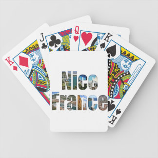 Nice France tourist attractions in letters Bicycle Card Decks