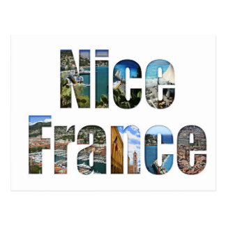 Nice, France tourist attractions in letters Postcard
